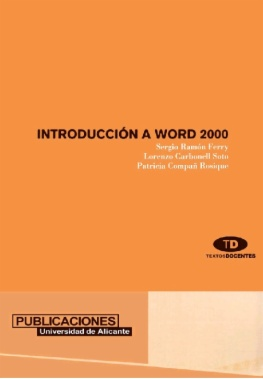 Introducción a Word 2000